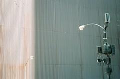 Light Poles Outside AMA Building (shaundancekid) Tags: film portra 160 kodak nikon n65 color chicago ishootfilm filmisnotdead