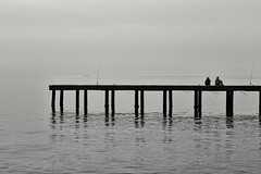 The Stories. (RKAMARI) Tags: 2016 cities mersin bw fisherman human mediterranean minimalistic sea sky street vacation flickrsbest