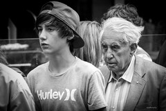Quicker than you think (midgley.derek) Tags: p1020209 these days powderfinger youth old men time unstoppable street photography streetphotography strangers portrait candid faces older younger serious