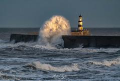 Waves over Seaham Pier.. (robinta) Tags: wave seascape ocean tide surf sea coast coastal water pier lighthouse architecture landmark ngc pentax sigma70300mmapo ks1 storm dramatic action england seaham sunderland
