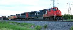 CN 8917, 8853, GECX 9124, Stroebe, Fox Crossing, 7 Jun 18 (kkaf) Tags: stroebe foxcrossing a447 cn sd70m2