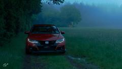 Honda Civic Type R (Matze H.) Tags: honda civic type r typer gt sport gran turismo field track fog dark scapes screenshot wallpaper uhd 4k playstation