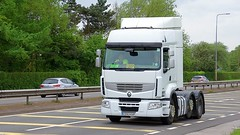 CE63 KVF (Martin's Online Photography) Tags: renault premium truck wagon lorry vehicle freight haulage commercial transport a580 leigh lancashire nikon nikond7200