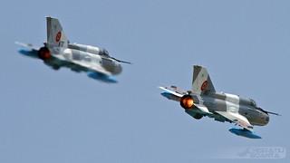 MiG-21MF-75 LanceR C 6807 + 6707 RoAF | Baza 95 Aeriană Bacău Open Day 2018