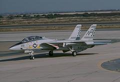 F-14A Tomcat 159620 of VF-211 NG-105 (JimLeslie33) Tags: 159620 f14 f14a vf vf211 fighting checkmates nas miramar cvw cvw9 uss constellation cv64 fighter fightertown naval aviation usn navy grumman tomcat ng ng105 olympus om1