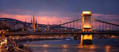 Budapest (hispan.hun) Tags: sonnar vintage manualfocus manual 200mm zeiss jena czj vintagelens hispansphotoblog hispanhu nightlights cityscape bridge river danube hungary capital europe