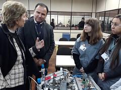 08/06/18 - Visita à Escola Sesi/Senai de Gravataí/RS. Conhecendo os projetos de ciência.