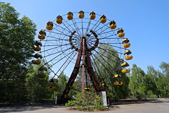 Ferris Wheel, Pripyat Amusement Park (Saleha Ullah) Tags: chernobyl ukraine nuclear disaster ghost town abandoned pripyat
