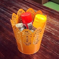 Seasonings in bloom (BradKellyPhoto) Tags: seasonings condiments orange salt