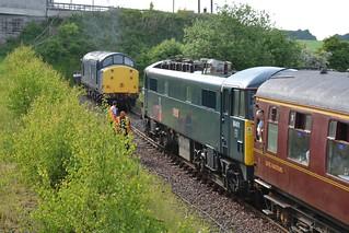 Direct Rail Services Blue Class 37/7, 37703 / 37067 & Caledonian Sleeper Class 86/4, 86401