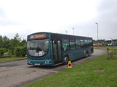 Notts&Derby 619 Download (Guy Arab UF) Tags: nottsampderby 619 fj03vwh scania l94ub wright solar debranded bus donington park download derbyshire wellglade group buses wellgladegroup