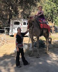 023 Carol On The Camel (saschmitz_earthlink_net) Tags: 2018 california angelesnationalforest losangelescounty sylmar reptacularranch kevinjessicawedding