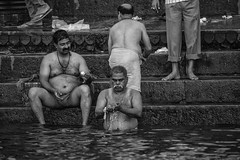 "Morning Ablutions In The Ganges, Varanasi (El-Branden Brazil) Tags: varanasi india indian ganges ganga ceremony hindu hinduism asian asia sacred holy mystical ""south asia"" sadhu"