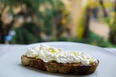 Il pane con stracciatella condita con olio d'oliva (Premshree Pillai) Tags: bologna italy bolognanovdec17 italian bo bread stracciatella cheese oliveoil evoo