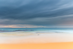 Soft Wash Overcast Sunrise (Merrillie) Tags: daybreak wamberalbeach sand sunrise sea centralcoast nature water morning surf overcast wamberal weather newsouthwales waves earlymorning nsw australia beach ocean landscape waterscape sky coastal clouds outdoors seascape dawn coast cloudy seaside