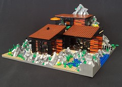 Lava House MOC III (betweenbrickwalls) Tags: lego legos afol moc house home dreamhome dreamhouse architecture contemporaryarchitecture design model building lava vulcano toys
