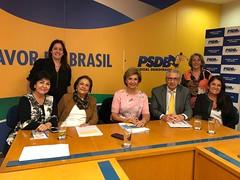13/06/18 - Reunião na Executiva do Partido com o tesoureiro do PSDB, deputado federal Silvio Torres e PSDB-Mulher Nacional.