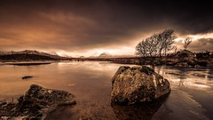 Stormy Rannoch Moor (Richard Walker Photography) Tags: scotland rocks landscape rannochmoor nature sunrise tree clouds highlands glencoe lake snow storm mountains winter stormy