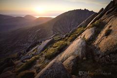 Sunset from Cir Mhor [5D4_1360] (GammyKnee) Tags: cirmhor landscape hillwalk arran rugged mountain rocky peak ridge dramatic scotland ayrshire