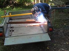 Fixing the trailer. (marsh_maureen) Tags: welding welder trailer people work tools