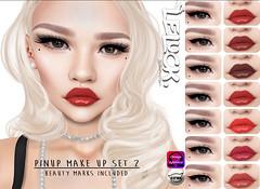 [LeLuck] Pinup make up set 2 (Sunkora) Tags: secondlife vintagefair vintage applier omega catwa pinup lipstick beauty mark liner