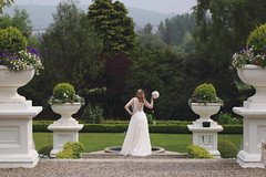 Striking a Pose (Colin Kavanagh) Tags: wedding bride bridal weddingphotography tinakillyhousehotel rathnew cowicklow ireland irelandinspires loveireland visitwicklow countryhouse specialday posing strikingapose garden gardens flowers plants ornate beautiful