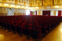 Palazzo Reale - Seats in the Court Theatre (zawtowers) Tags: naples napoli campania italy italia may 2018 summer holiday vacation break warm dry sunny palazzo reale royal palace baroque architecture built 17th century used bourbon kings residence court theatre teatro di corte plush red seating inside comfortable