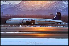 N151 Everts Air Cargo (Bob Garrard) Tags: douglas dc6b dc6 n151 everts air cargo sun dawn sunrise anc panc prop freighter