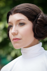 Princess Leia cosplayer at ExCeL London's MCM Comic Con, May 2018 (Gordon.A) Tags: london docklands londondocklands excel excellondon excellondonexhibitioncentre moviecomicmedia mcm con convention comicbookconvention comiccon mcmcomiccon mcmlondon comicconlondon comicconlondonexcel 2018 may2018 mcm2018 creative costume culture lifestyle style princessleia senatorleiaorgana generalleiaorgana jedi jedimaster starwars cosplay cosplayer cosplayportrait cosplayphotography festival event eventphotography amateur pose posed portrait portraitphotography streetportrait streetphotography colourportrait colourstreetportrait naturallight naturallightportrait canon eos 750d canoneos750d digital sigma sigma50100mmf18dc