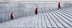 tree women in red (TeRo.A) Tags: punainen red stair portaat tallin tallinna
