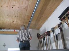 Final half day installing the ceiling (REGOR NOTPUL) Tags: franks garageworkshop ceiling plywood