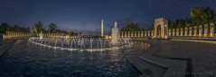WWII Memorial Pano (D. Scott McLeod) Tags: nationalworldwariimemorial wwiimemorial nationalmall nationalparkservice fountains washingtonmonument longexposure panorama sunrise washingtondc dc districtofcolumbia dcphotographer dscottmcleod scottmcleod dawn