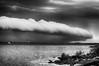 001305252018bw (bassgal71/Sarah Rodefeld) Tags: oklahoma lakethunderbird water lake blackandwhite scenery clouds cloudsstormssunsetssunrises rain memorialweekend2018 scenics sarahrodefeld