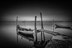 Silence (Artur Tomaz Photography) Tags: aveiro le moliceiro torreira barco blackandwhite boat bridge dock fishing mirror mono monochrome port ria river sea sunrise water