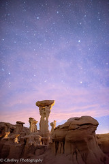 Twilight at Alien Throne (OJeffrey Photography) Tags: alienthrone twilight stars starscape rockformation rocks pink clouds bistibadlands nm newmexico ojeffreyphotography ojeffrey jeffowens nikon d850