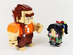 Wreck-It Ralph (YOS Bricks) Tags: wreckit ralph vanellope brickheadz disney princess lego