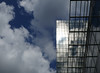 Sun and clouds reflected on a BnF Mitterand tower (Monceau) Tags: sun clouds shining reflection bibliothèquenationaledefrance bnf bnfmitterand