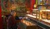 Monastery along the outer Linkhor of Lhasa, Tibet 2017 (reurinkjan) Tags: tibetབོད བོད་ལྗོངས། 2017 ༢༠༡༧་ ©janreurink tibetanplateauབོད་མཐོ་སྒང་bötogang tibetautonomousregion tar ütsang lhasa linkhor monasteryinterior candlelight womanསྐྱེས་དམན་kyemen བུད་མེདbümé beautifulwomanབུད་མེད་མཆོགbümemchok prettywomanབུད་མེད་མཆོར་མོbüméchormo ladyfemalewomanམོmo མོ་སྐྱེསmokyé femalesམོ་རྣམསmonam faceགདོང་པ་dongpa གདོང༌dong གདོང་ཁdongkha portrait portraiture facecolorགདོང་མདོགdongdok portrayal picture photograph likeness