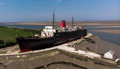 duke of Lancaster (paul hitchmough photography 2) Tags: ship crusekiner dock abandon northwales coastline paulhitchmoughphotography aerialphotography dronephotography dji mavicair paulhitchmoughphotohraphy riverdee
