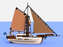 papillon bleu bl2.lxf (Brick picker) Tags: boat captain daniel barge houseboat wood voilier bateau bois ship lego black deck ocean river dom modular moc afol ideas peniche fishing vintage figurinescale figure creator legocreation