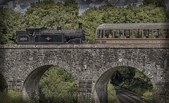 LSWR M7 30053 Viaduct (ironsod) Tags: hdr heritage steam lswr lswrm730053 train swanage