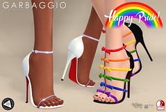 Happy Pride! (Ashleey Andrew) Tags: garbaggio sl secondlife second life virtual world fashion apparel accessories footwear shoes original mesh shoe sandals pride month lgbt