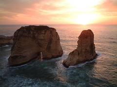 Pigion Rocks at sunset in Beirut, Lebanon (yhila) Tags: sunset beirut lebanon