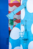 Spotty performance (A Different Perspective) Tags: australia northam perth blue chute detail mural red rust silo spot stair steel white