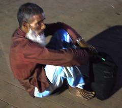 Waiting for journey (sadikul.h) Tags: people man street streetphotography waiting journey