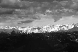 Eastern Rhaetian Alps seen from Bullaccia