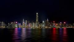 Hong Kong Skyline (BSKY STUDIO BAM) Tags: lit lights tallbuildings building landscape conrad hsbc reflection hongkongskyline hongkong skyline kowloon harbour hkharbor port marina night