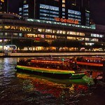 Clarke Quay by the Singapore river with bum boats for tourists thumbnail