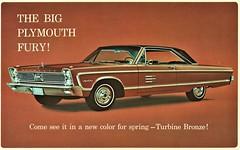 1966 Plymouth Sport Fury 2-Door Hardtop (aldenjewell) Tags: 1966 plymouth sport fury 2door hardtop turbine bronze postcard