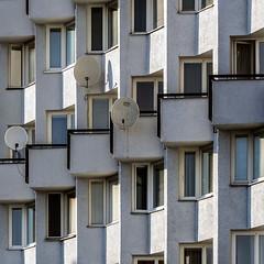 Shadowplay (Maciej Dusiciel) Tags: architecture architectural facade shadow shadowplay balcony urban travel czech ostrava europe world sony alpha building socialist modernism